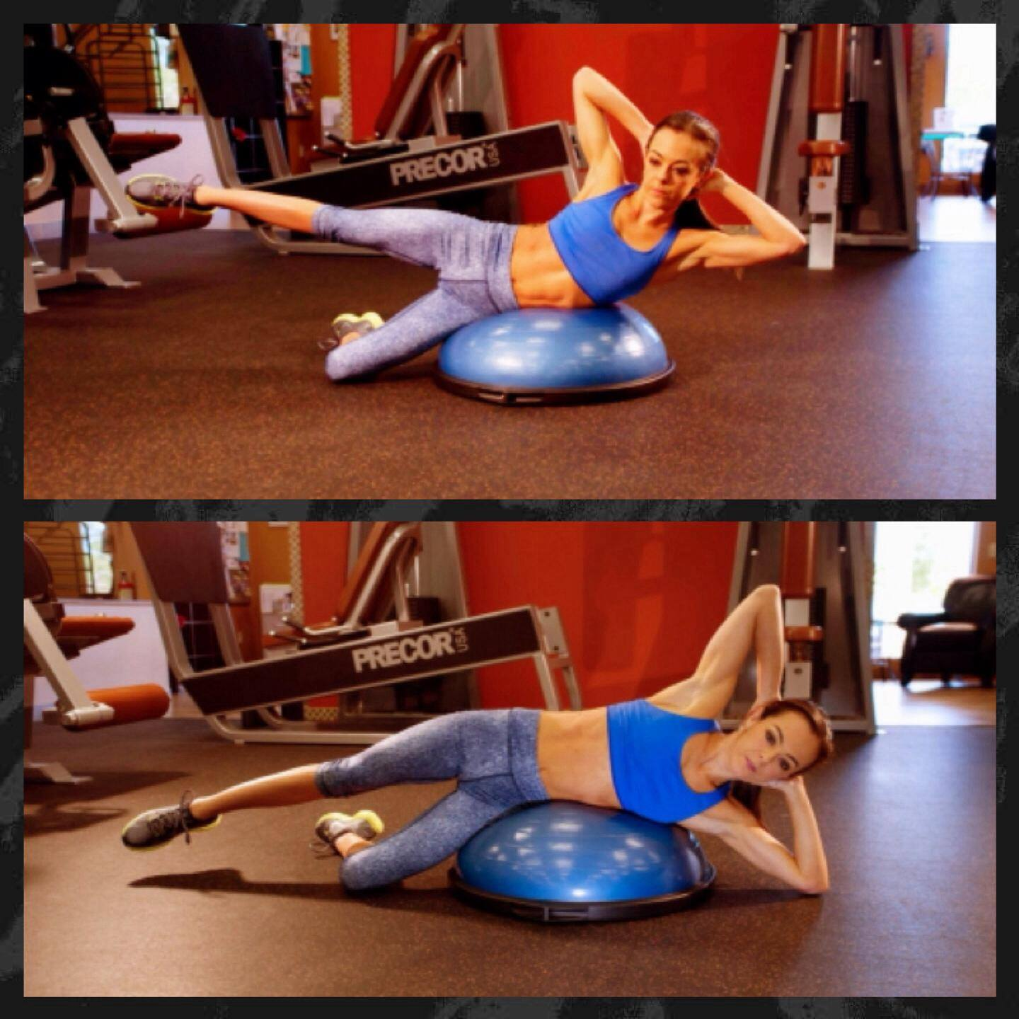 Bosu Ball Oblique Crunches: Exercise Of The Week: Bosu Oblique Crunch With Hip