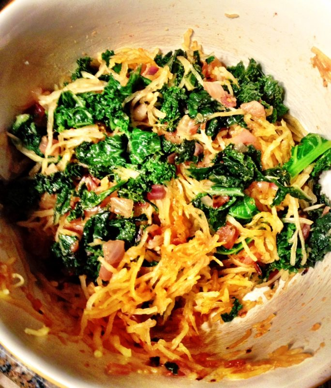 Spaghetti Squash and Kale Recipe