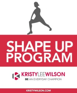 KLW Shape Up Program Cover 3