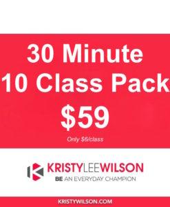 30 Min Class - 10 Pack