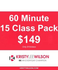 60 min Class Pass - 15